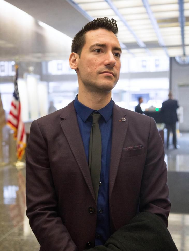 F9Y9HG San Francisco, California, USA. 18th Dec, 2015. David Daleiden, lead investigator with the Center for Medical Progress, appeared in federal court Dec. 18, 2015 as a judge decides whether to maintain a temporary restraining order preventing Daleiden and his team from releasing videos they surreptitiously recorded at National Abortion Federation conferences in the last two years as part of Daleiden's ''Human Capital Project. © ZUMA Press, Inc./Alamy Live News
