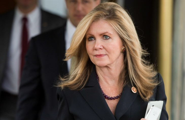 UNITED STATES - SEPTEMBER 9: Rep. Marsha Blackburn, R-Tenn., leaves the House Republican Conference meeting at the Capitol Hill Club in Washington on Tuesday, Sept. 9, 2014. (Photo By Bill Clark/CQ Roll Call) (Newscom TagID: rollcallpix085874.jpg) [Photo via Newscom]