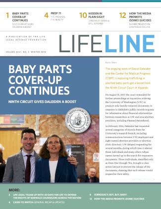 Cover of Lifeline Winter 2018
